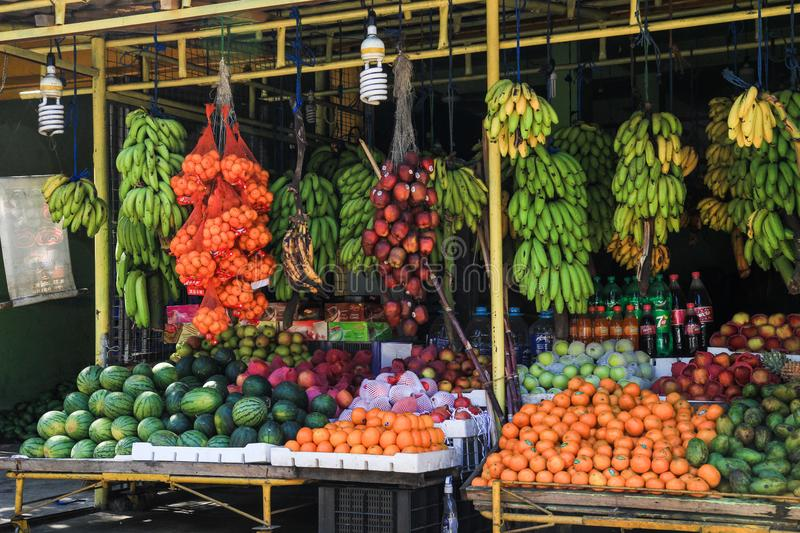 Fruit stand in Sri Lanka stock photography