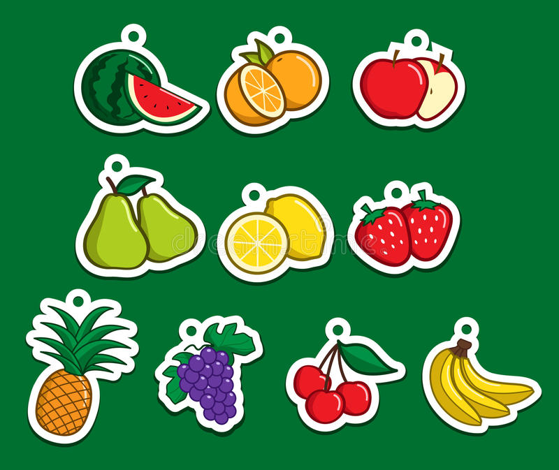 Download Fruit Sticker stock vector. Image of freshness, cartoon - 21740254