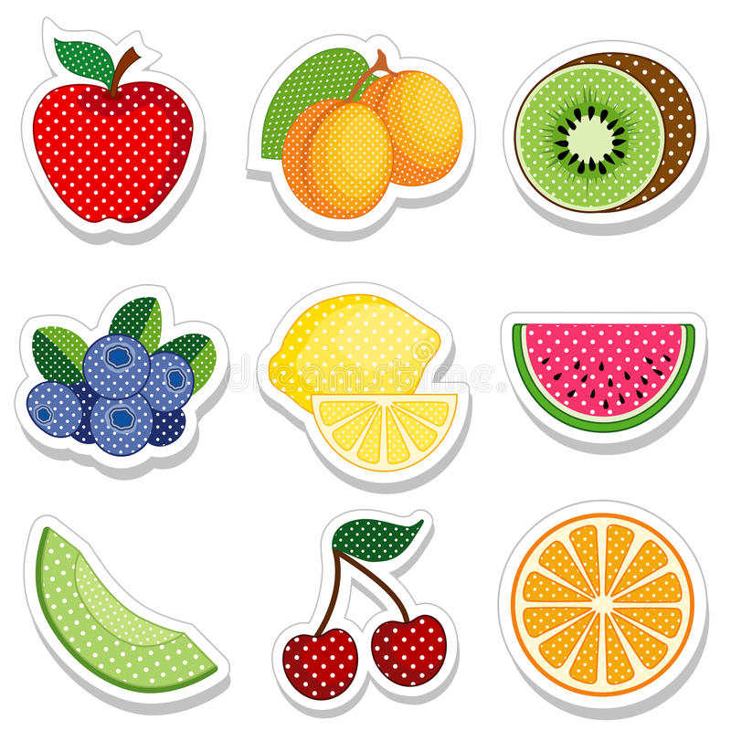 Download Fruit Stickers stock vector. Illustration of antioxidant - 26134063