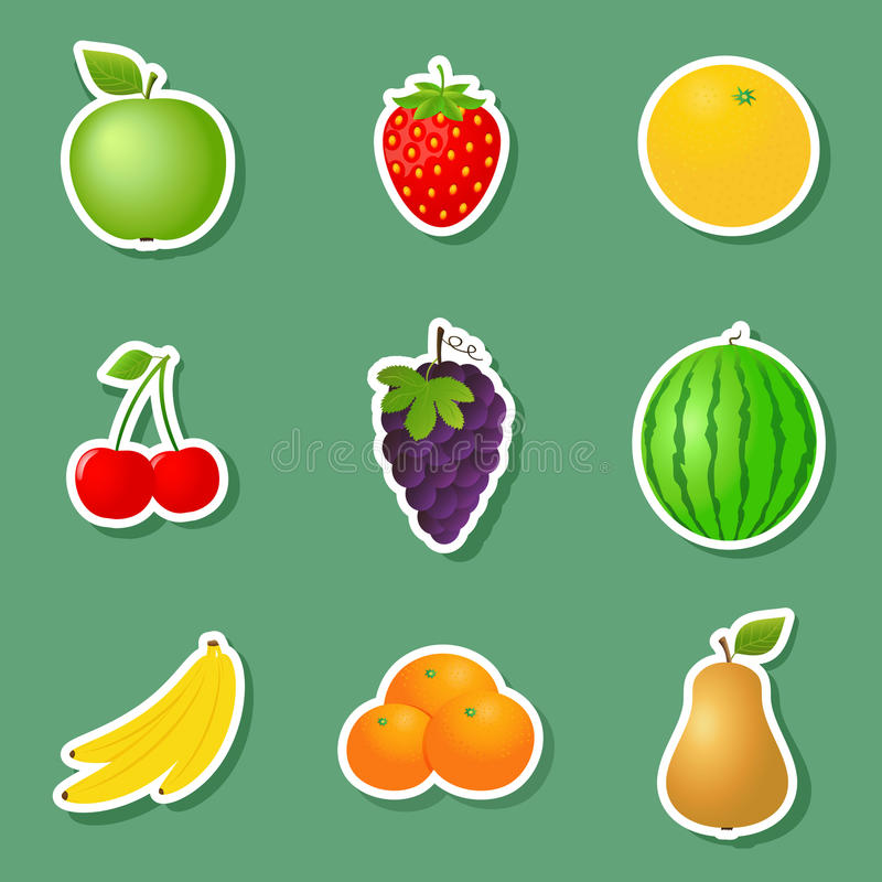 Fruit Stickers vector illustration
