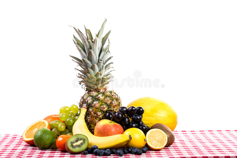 Download Fruit On Tablecloth Textile Stock Image - Image: 41903115