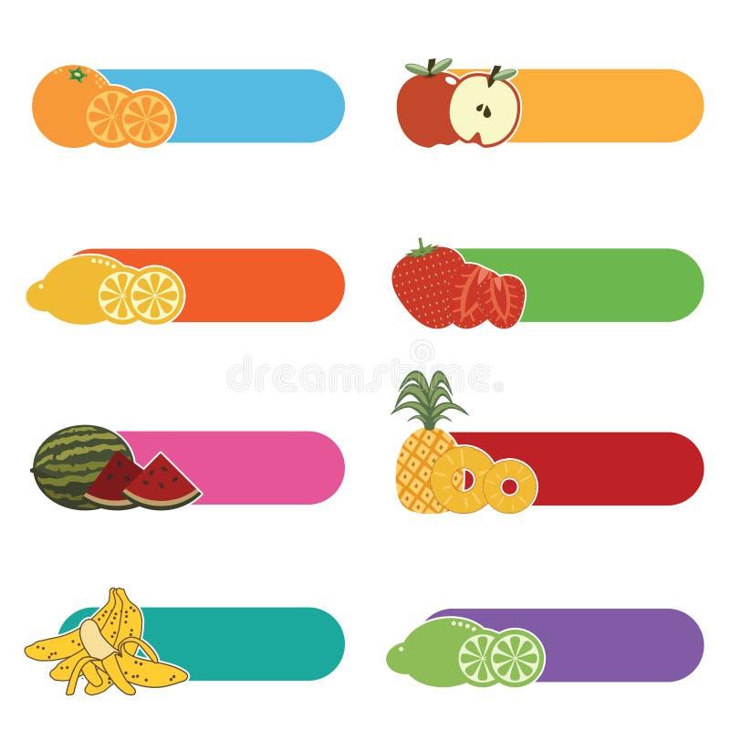 Fruit tabs stock illustration