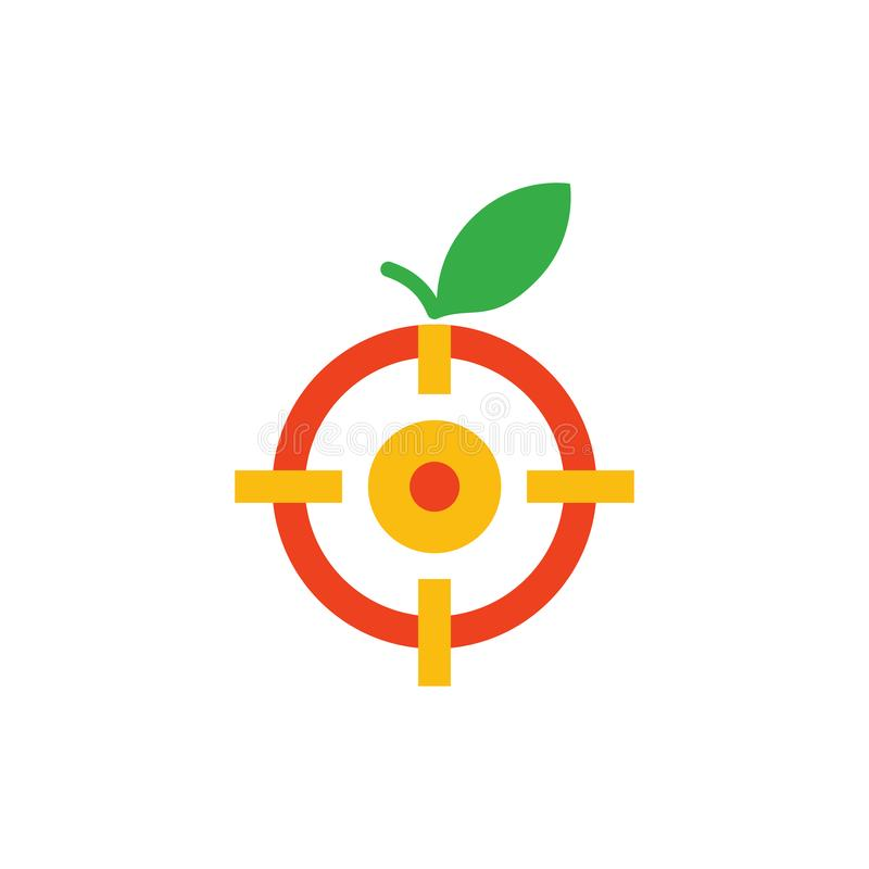 Fruit Target Logo Icon Design. This design can be used as a logo, icon or as a complement to a design vector illustration