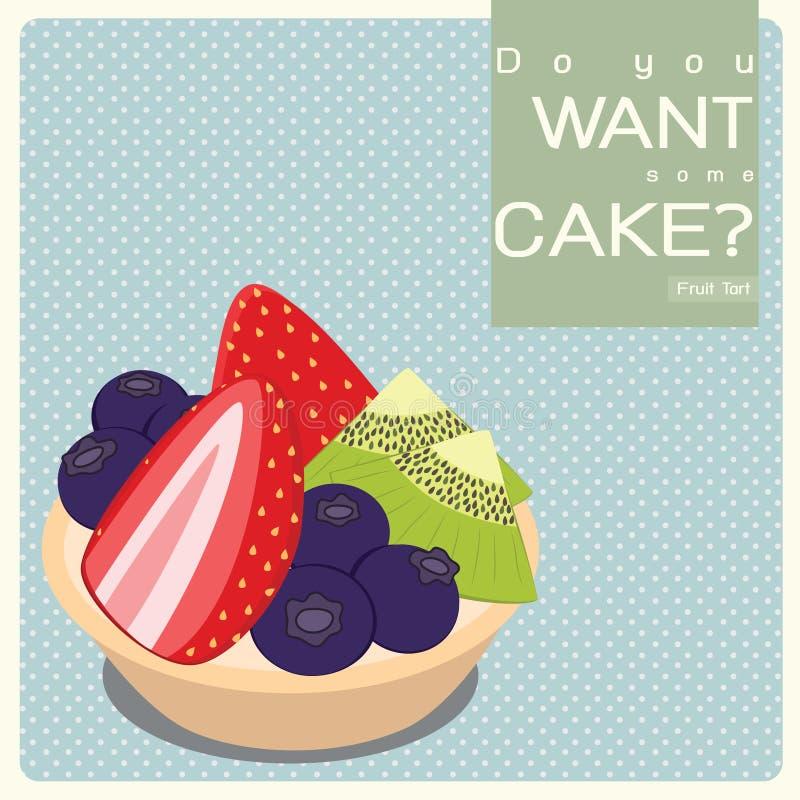 Download Fruit Tart stock illustration. Image of celebration, kiwi - 28534983