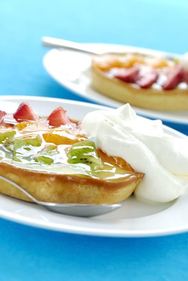 Strawberry and Kiwi Fruit Tarts royalty free stock photo