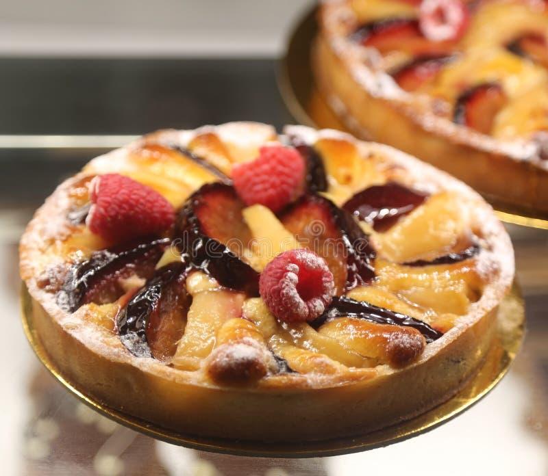 Fruit tart in French bakery royalty free stock photos
