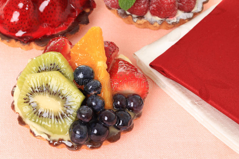 Fruit Tarts Stock Photography