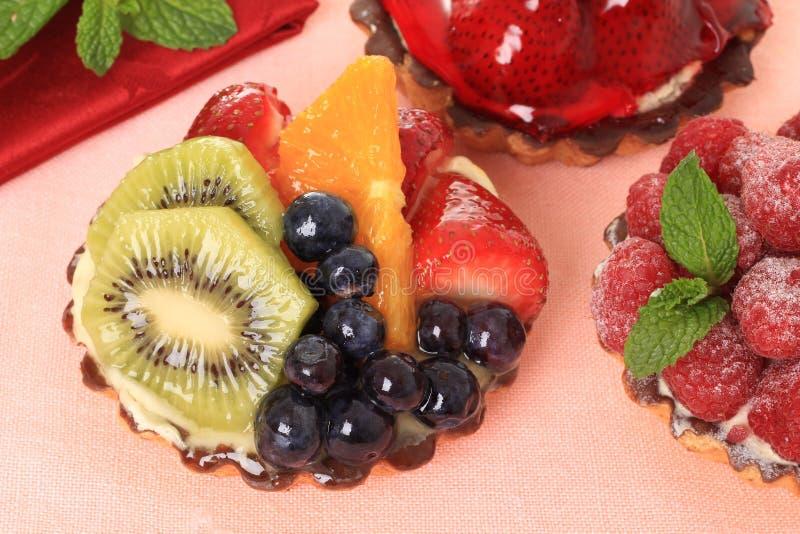 Download Fruit tarts stock photo. Image of icing, pink, fresh - 21895020