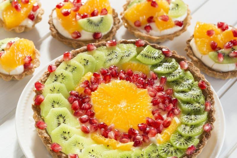Fruit tarts royalty free stock photography