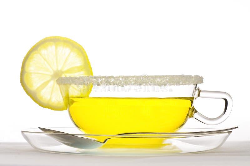 Fruit tea. Cup of fruit tea with lemon stock images