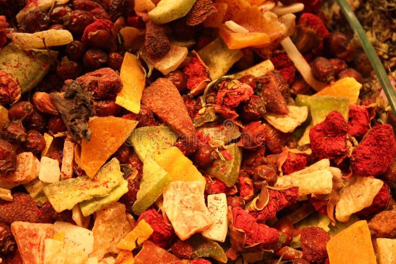 Fruit Tea Closeup Texture Bright Dry Fruits stock image