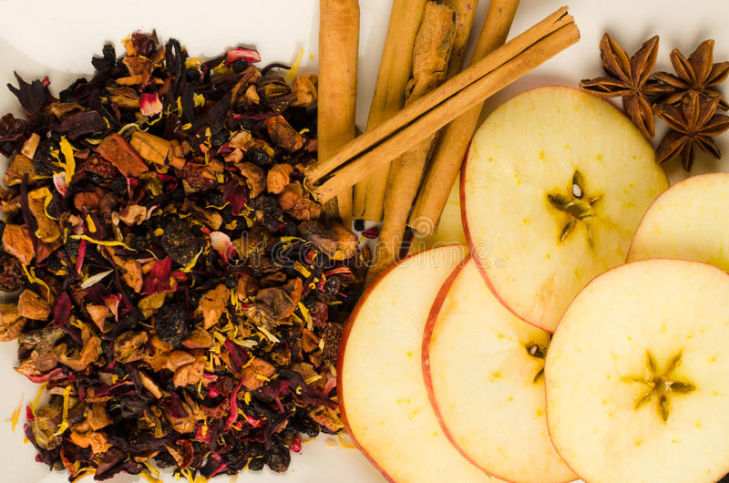 Fruit tea ingredients royalty free stock photo