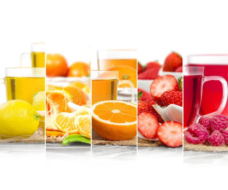 Fruit Tea Mix royalty free stock image