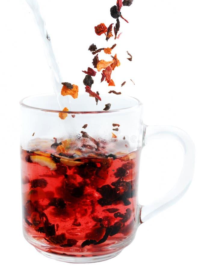 Fruit tea preparation royalty free stock photos