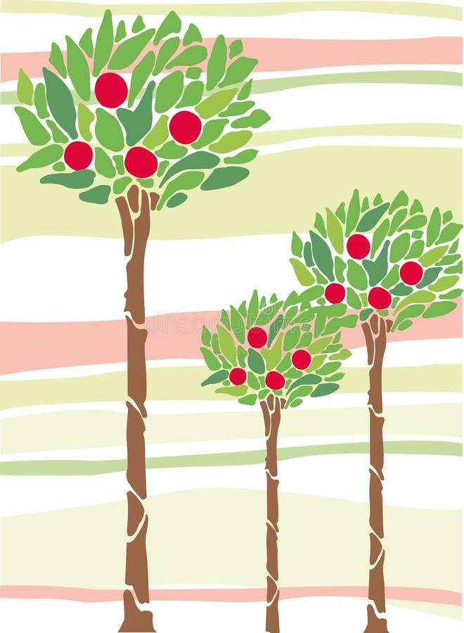 Fruit tree royalty free illustration
