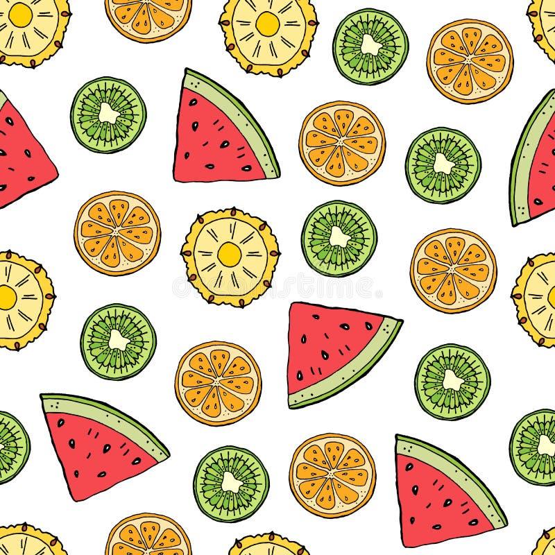 Fruit tropisch naadloos patroon vector illustratie