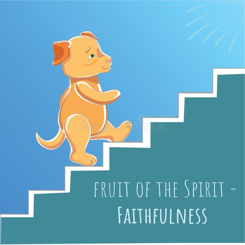 Fruit van de Geest - Geloof - Trouw stock illustratie