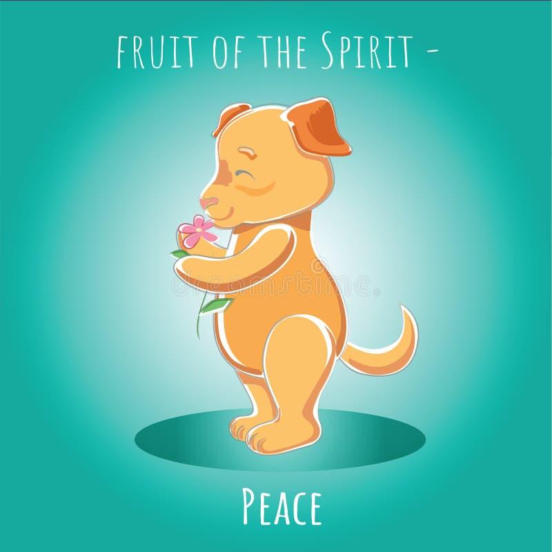 Fruit van de Geest - Vrede royalty-vrije illustratie