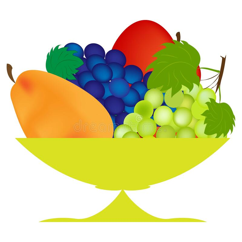 Free Fruit Vase On A Leg With Fresh Fruits, Apples, Pears And Grapes. Royalty Free Stock Images - 177904609