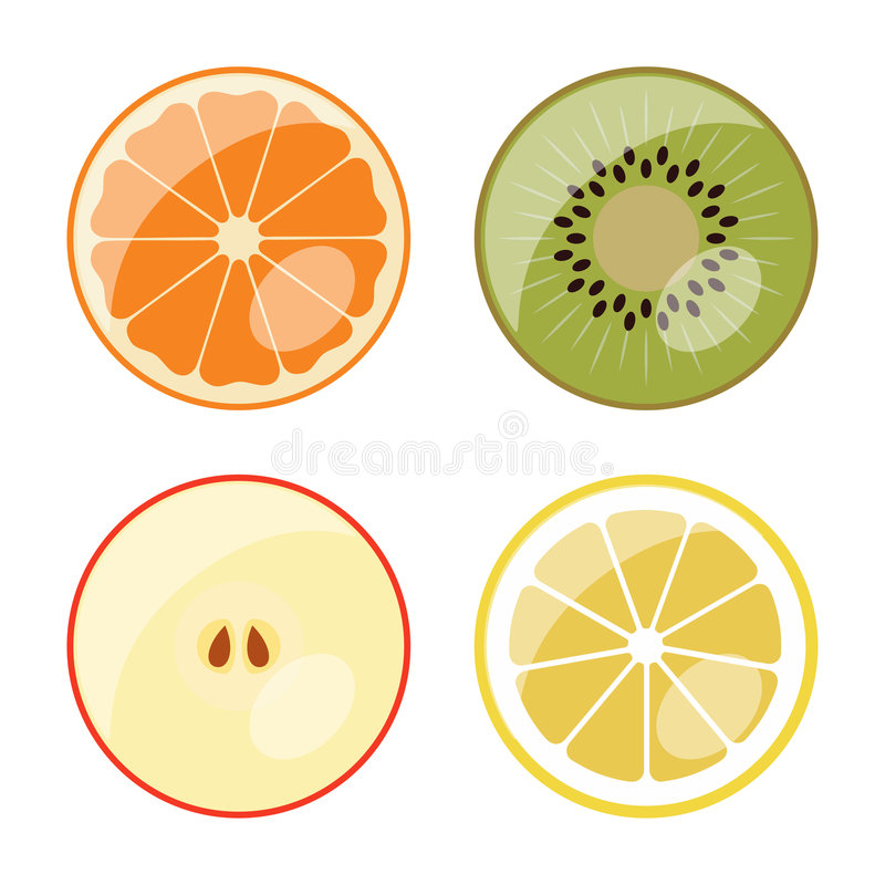 Fruit - vector web icons (buttons) royalty free stock photography