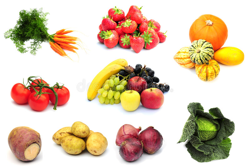 Fruit and veg stock images