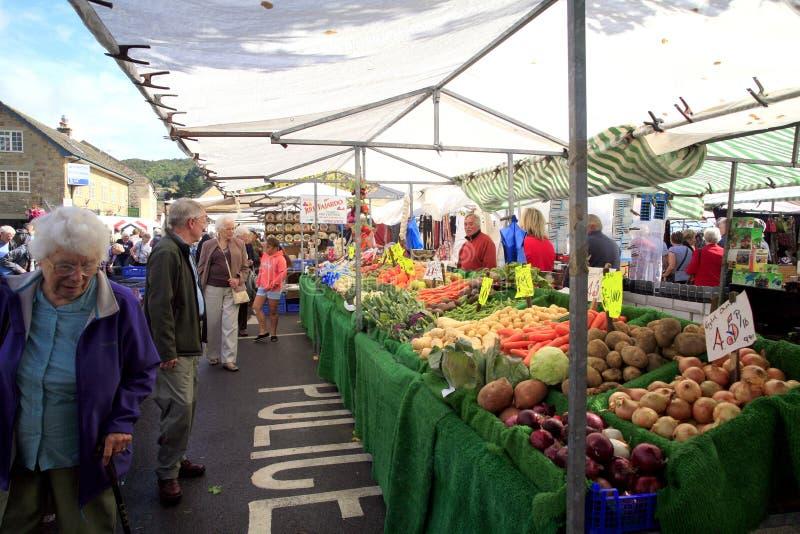 Fruit & veg. market stall stock image