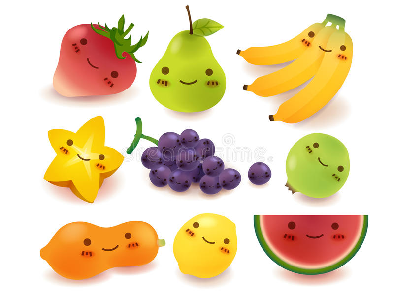 Fruit And Vegetable Collection Stock Photos