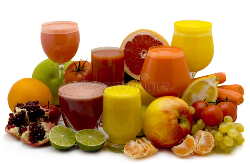 Fruit and vegetable juice royalty free stock images