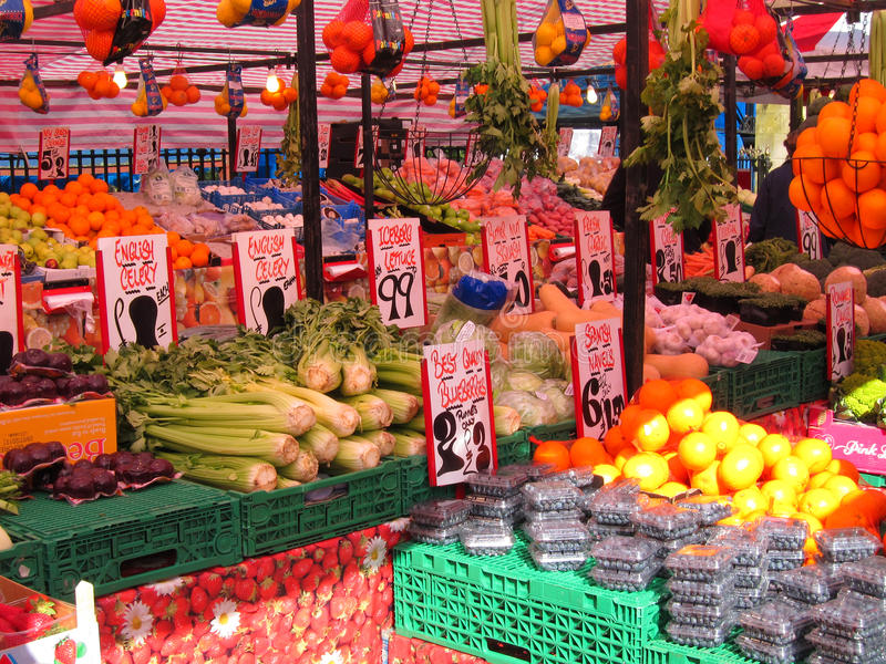 Fruit and vegetable market. royalty free stock photography