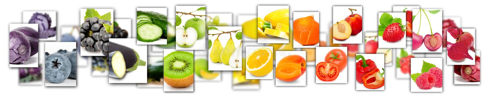 Fruit and Vegetable Mix stock illustration