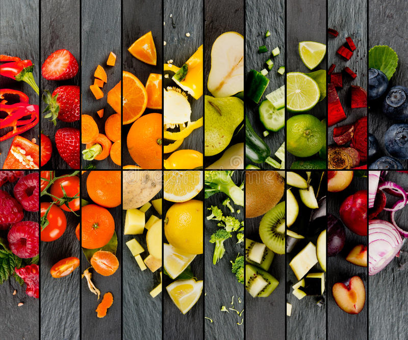 Fruit and Vegetable Mix royalty free stock photo