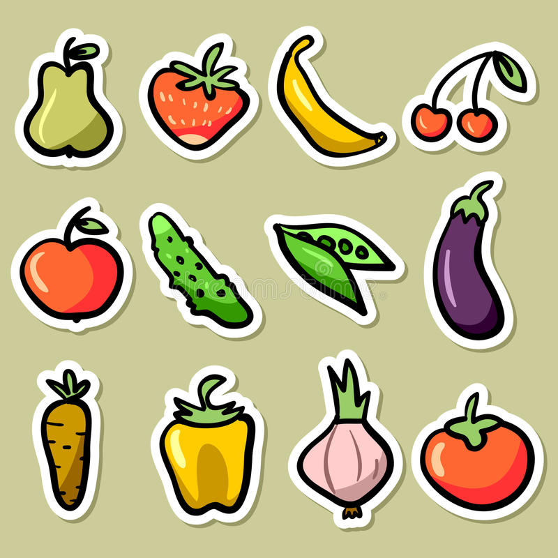 Fruit And Vegetable Set Royalty Free Stock Images