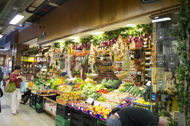 Fruit and vegetable shop royalty free stock photos