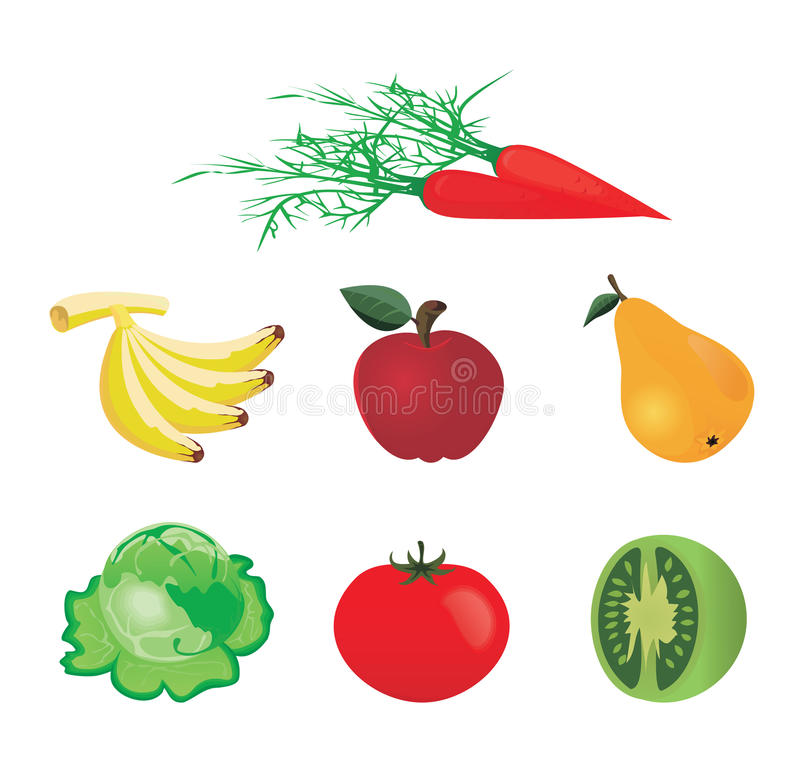 Download Fruit and vegetables stock vector. Illustration of greens - 10270235