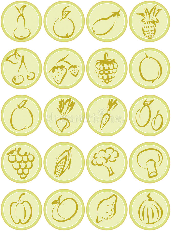 Download Fruit and vegetables stock vector. Image of broccoli - 29456778