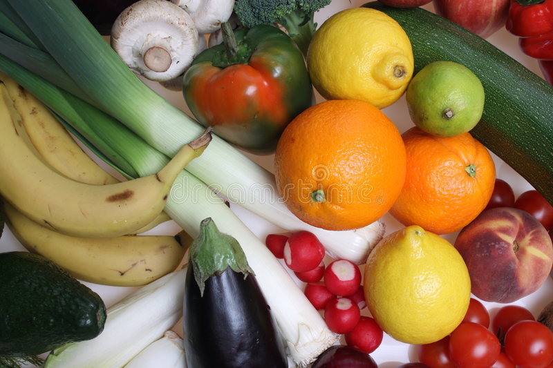 Download Fruit and Vegetables stock photo. Image of fresh, backgrounds - 8484642