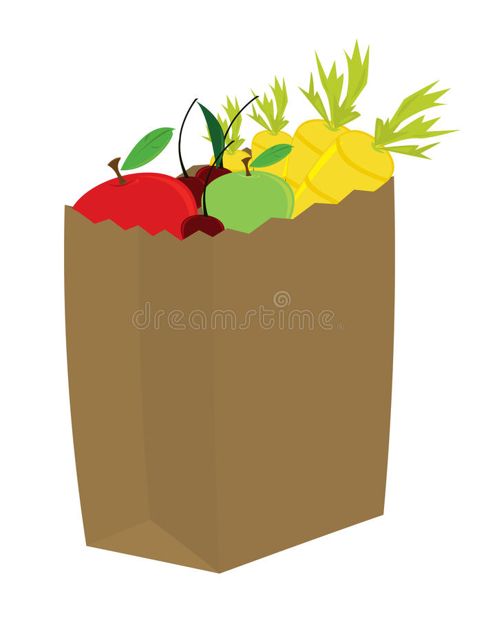 Download Fruit And Vegetables In Grocery Bag Stock Images - Image: 10190034