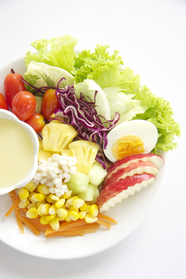 Fruit & Vegetables Salad stock image