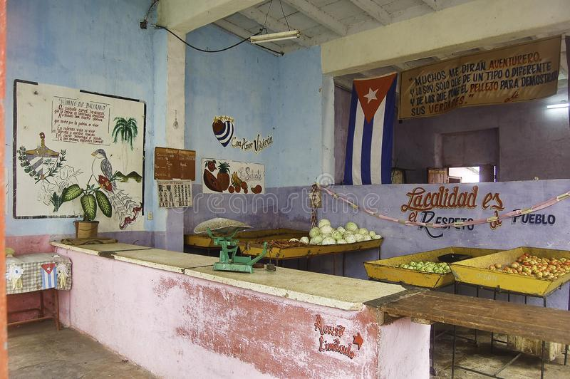 -fruit and vegetables shop in cuba stock photo