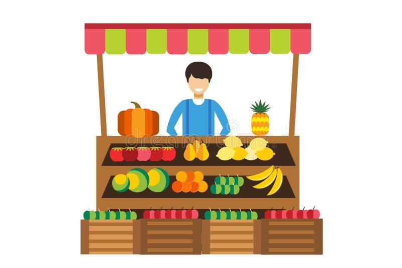 Cartoon Fruit Shop Stall Stock Illustrations – 545 Cartoon Fruit ...