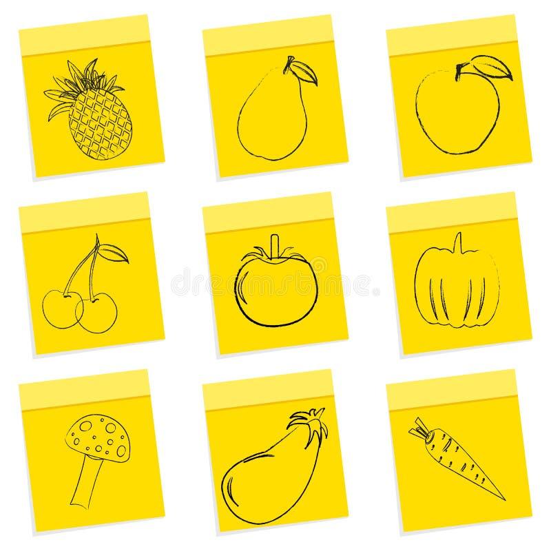 Download Fruit & vegetables sketch stock illustration. Illustration of leaf - 16936978
