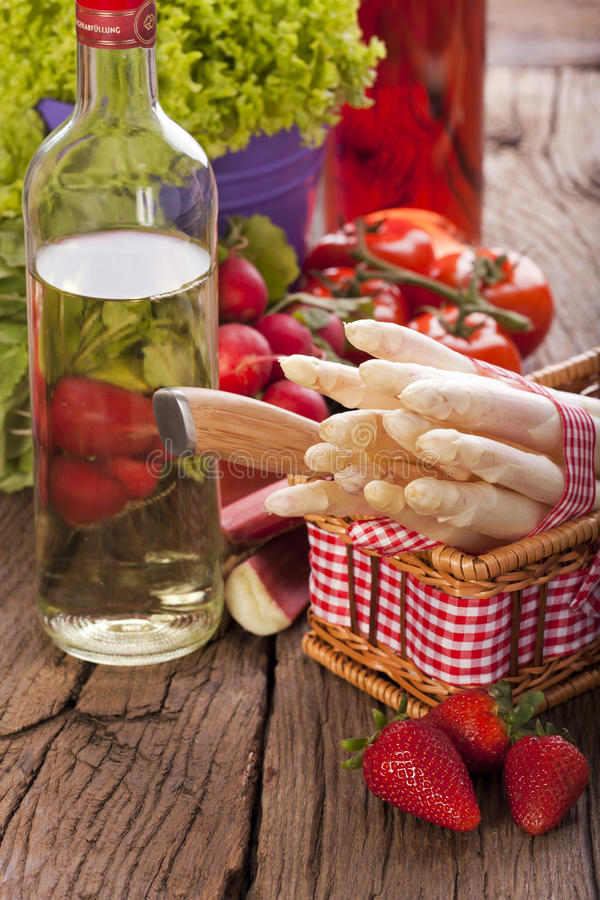 Download Fruit, vegetables and wine stock image. Image of house - 30872909