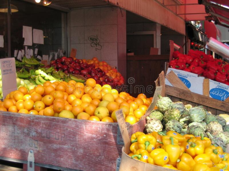 Fruit and Vegetables at Young Brothers on Broadway royalty free stock photo