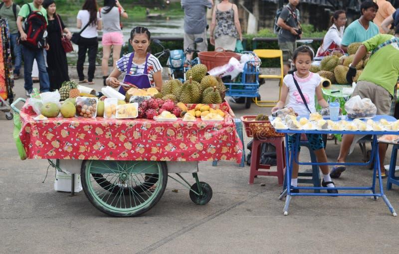 Fruit vendor in Thailand royalty free stock photos