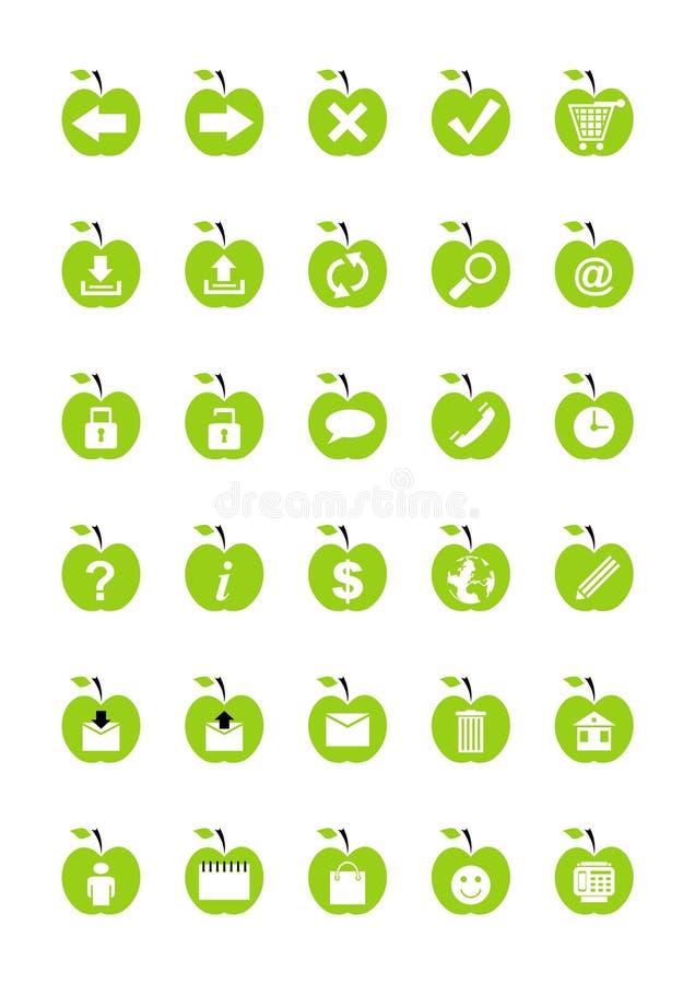 Fruit Web Icons Stock Photo