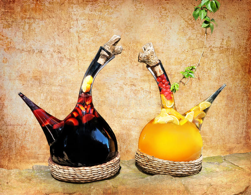 Fruit wine royalty free stock images