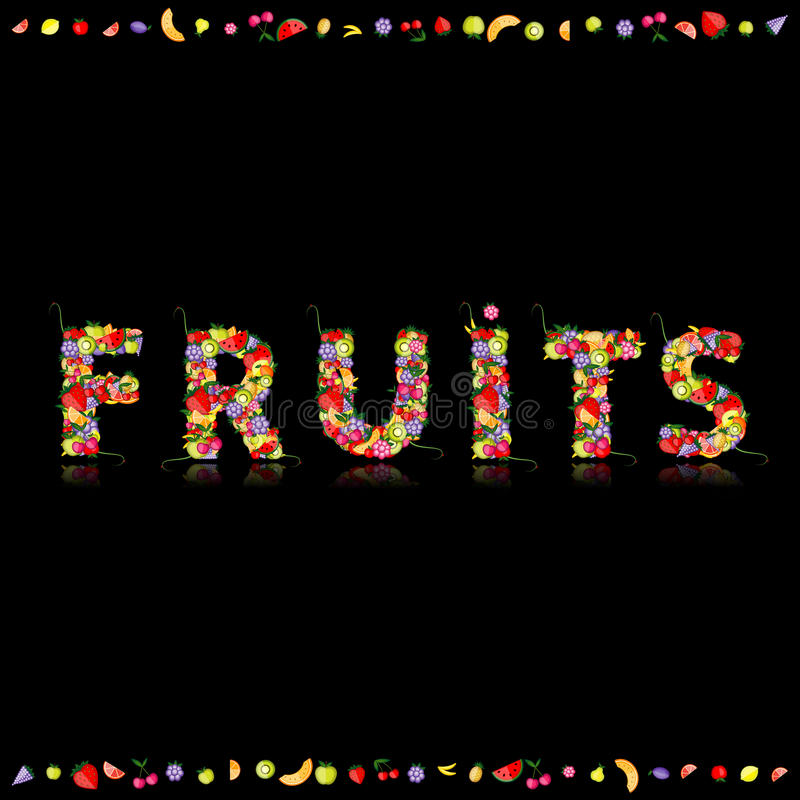 Fruit for your design. See others in my gallery. Illustration royalty free illustration