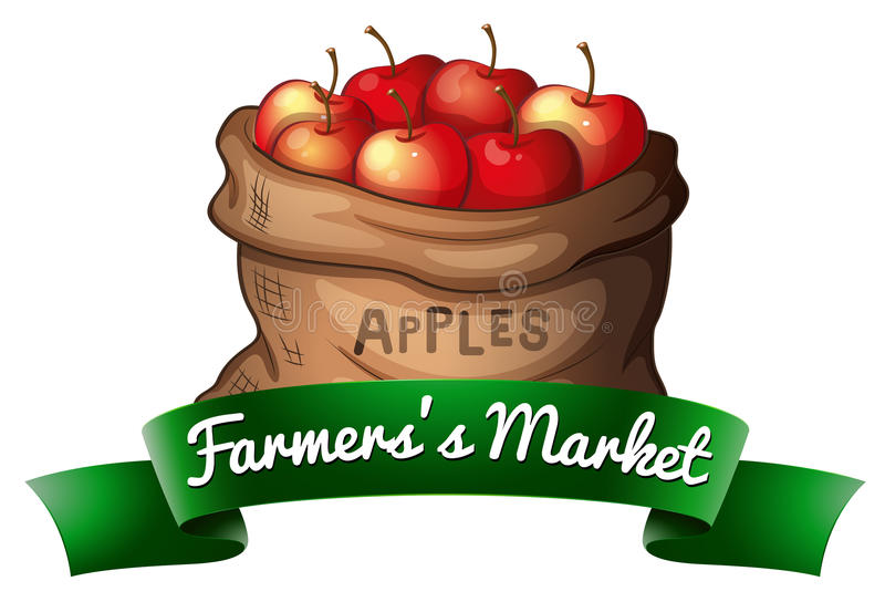 Fruit in zak vector illustratie