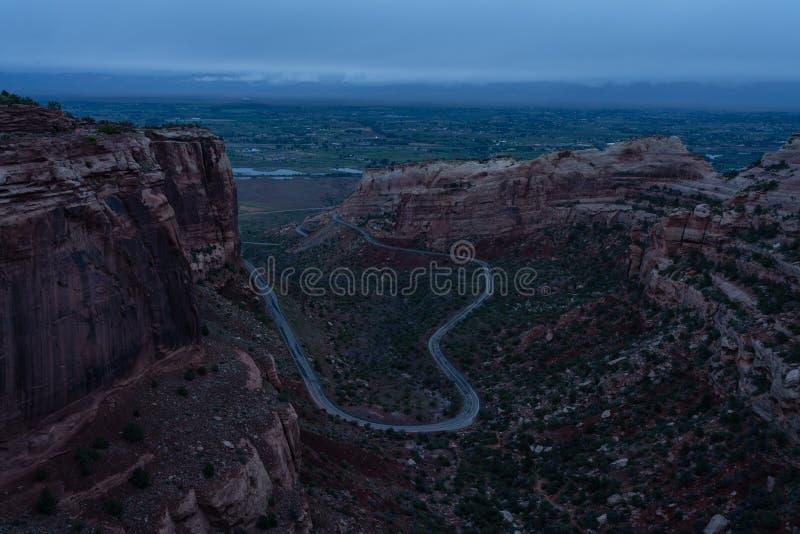 Fruita Canyon. Colorado National Monument, Fruita, Colorado royalty free stock photography
