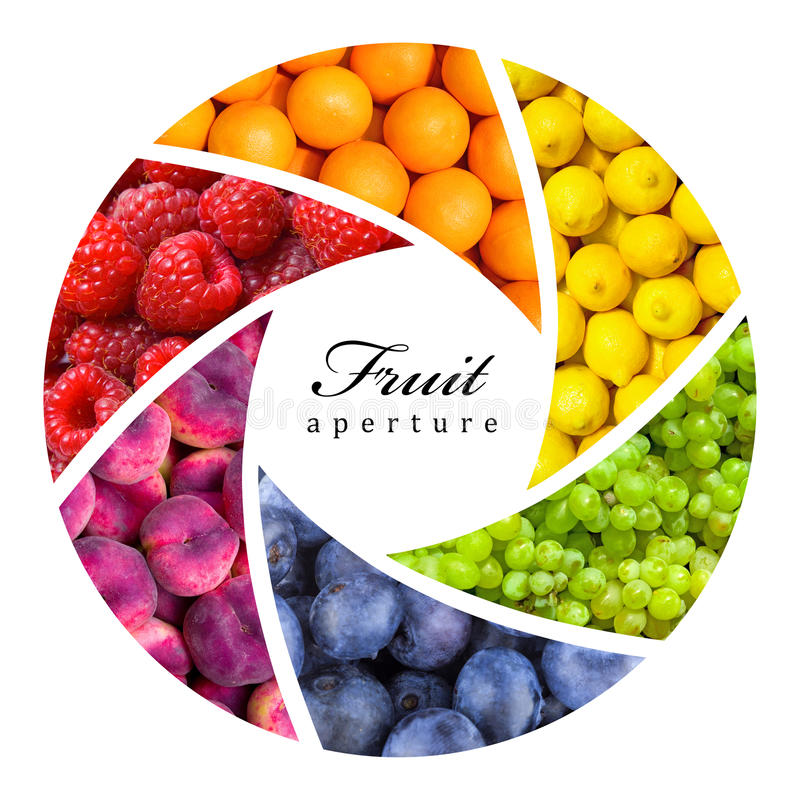 Fruitachtergronden stock afbeelding